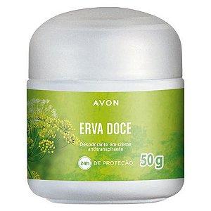 Desodorante em Creme Antiranspirante Erva Doce - 50 g