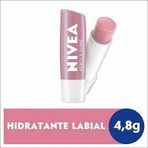 Protetor Labial Nivea Pérola Shine 4,8g