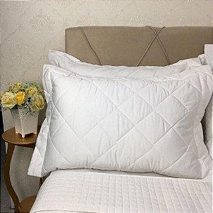 Porta Travesseiro C/ 3 Abas - 50x70cm - Cor Branco - Pérola 300 fios - Profiline Luxury