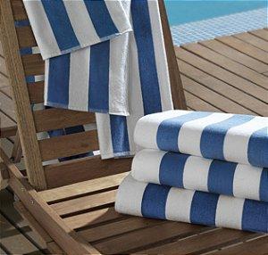 Toalha de Piscina Profissional 86x160cm - Azul - Ibiza - Teka Profiline