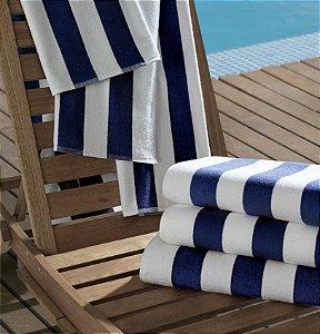Toalha de Piscina Profissional 86x160cm Azul Marinho - Ibiza - Teka Profiline
