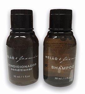 Kit 50 Frascos Shampoo + 50 Frascos Condicionador 30 ml Melão + Jasmim - Realgems