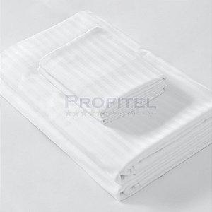 Lençol Casal 200 fios - Toronto Stripe C/ Aba de 7cm 220x250cm - TEKA Profiline
