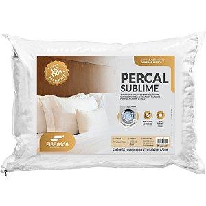 Travesseiro 50x70 - Percal Sublime 180 fios Lavável em Máquina - Fibrasca