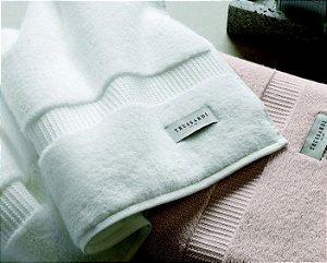 Toalha de Banhão Premium 86x150cm Cor Branco Doppia Extra Cotone 500g/m² - Trussardi