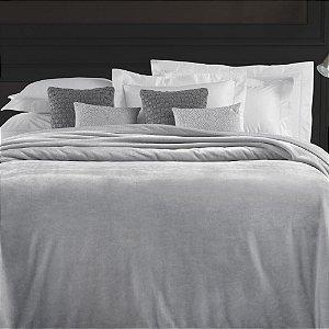 Cobertor Queen 240x260cm 450 g/m² Aveludado Piemontesi Platino - Trussardi