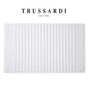 Toalha para Pés Branco 48x80cm Ondulato Premium 720 G/M² Trussardi