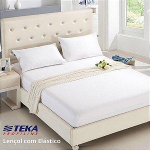 Lençol Profissional com Elástico Solteiro 100x203+40cm - 180 fios - TEKA Profiline