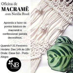 OFICINA DE MACRAMÊ 21/02/2019 - 14h as 18h