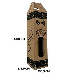 25 Caixas de Papelão 8,5x8,5x33 cm para 1 garrafa, Vinho