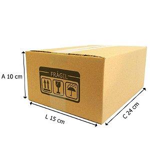 25 Caixas de Papelão D6 - 24x15x10 cm