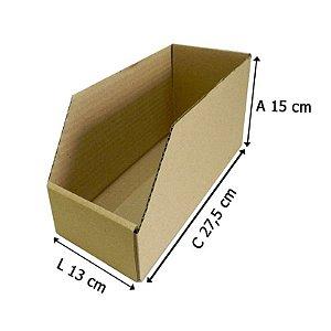 Caixa De Papelão Organizadora Estoque Prateleira - 27,5x13x15 - 25 un