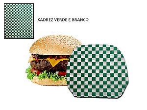 Papel acoplado 30x38 cm 500 folhas (xadrez Verde e Branco)