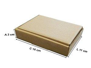 50 Caixas de Papelão D0 16x11x3 cm
