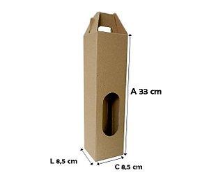 25 Caixas de Papelão 8,5x8,5x33 cm para 1 garrafa