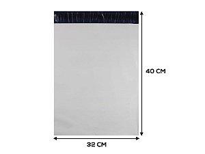 Envelope Plástico de Segurança LISO - 32x40 cm - 250 unidades