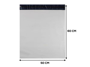 Envelope Plástico de Segurança LISO - 50x60 cm - 50 unidades