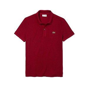 1ef8a752b1 Camisa Polo Lacoste Clássica Masculina Regular Fit Vermelha