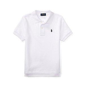 Camisa Polo Ralph Lauren Branca Simbolo Azul 0abdc88f58b33