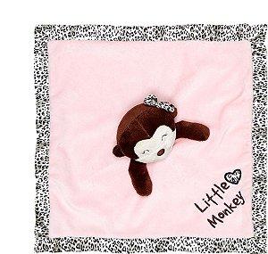 Naninha Macaquinho rosa - Paninho para dormir - Tip Top