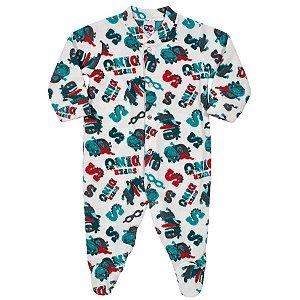Macacão Pijama Dinossauro em Soft - Tip Top
