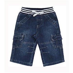 Calça Jeans menino bebê com cós retilínea- Tip Top