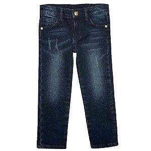Calça Jeans Kids Feminina com Regulagem - Tip Top