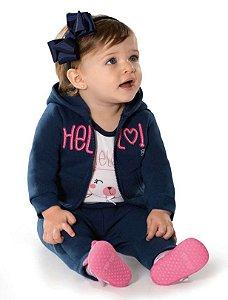 Conjunto Comprido Bebê Moleton Felpado - Tip Top