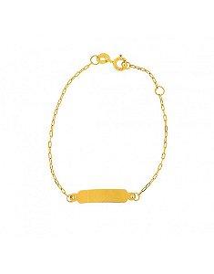 Pulseira em ouro amarelo 18K Cartier com chapinha