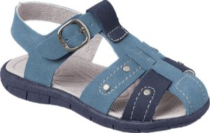 Sandália Papete Infantil Line Play Azul Denim Costuras - Klin