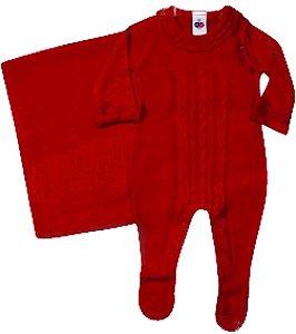 Kit Maternidade Vermelho em Tricot - Tip Top
