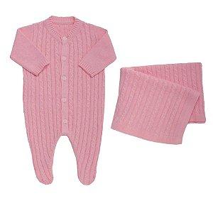 Kit Maternidade Rosa em Tricot - Tip Top