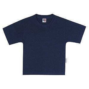 Camiseta Manga Curta Básica Kids Azul Marinho - Tip Top