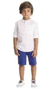 Conjunto Infantil Masculino Camisa + Calça - Milon - Bilu Bilu Kids 6d905599181
