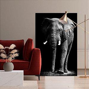 Quadro decorativo Elefante em Preto e Branco