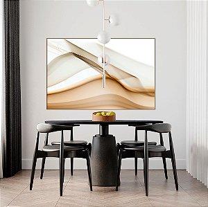 Quadro decorativo Abstrato Bege e Branco