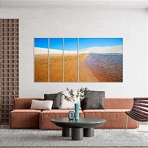 Conjunto com 04 quadros decorativos Lençóis Maranhenses - Artista Bruno Lacerda