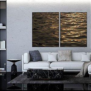 Conjunto com 02 quadros decorativos Movimento do Mar
