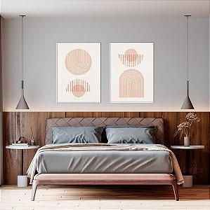Conjunto com 02 quadros decorativos Minimal - Artista Claudia Dias