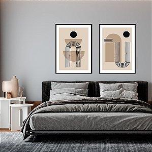 Conjunto com 02 quadros decorativos Minimalist - Artista Claudia Dias