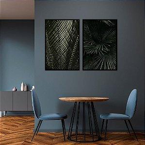 Conjunto com 02 quadros decorativos Urban Jungle