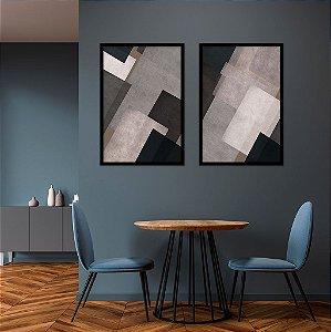 Conjunto com 02 quadros decorativos Texturas