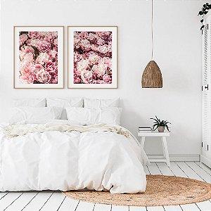 Conjunto com 02 quadros decorativos Floral