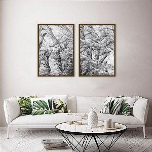 Conjunto com 02 quadros decorativos Arte Abstrata