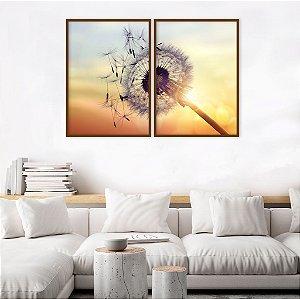 Conjunto com 02 quadros decorativos Sorte