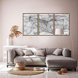 Conjunto com 03 quadros decorativos Vento