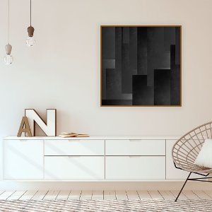 Quadro Decorativo Abstract Black