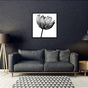Quadro Decorativo Flor P&B