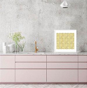 Quadro Decorativo Geométrico Dourado