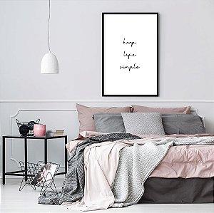 Quadro decorativo Life Simple